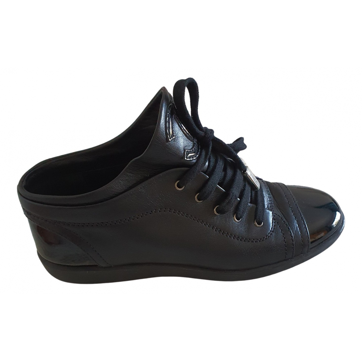 Chanel N Black Leather Trainers for Women 39 EU