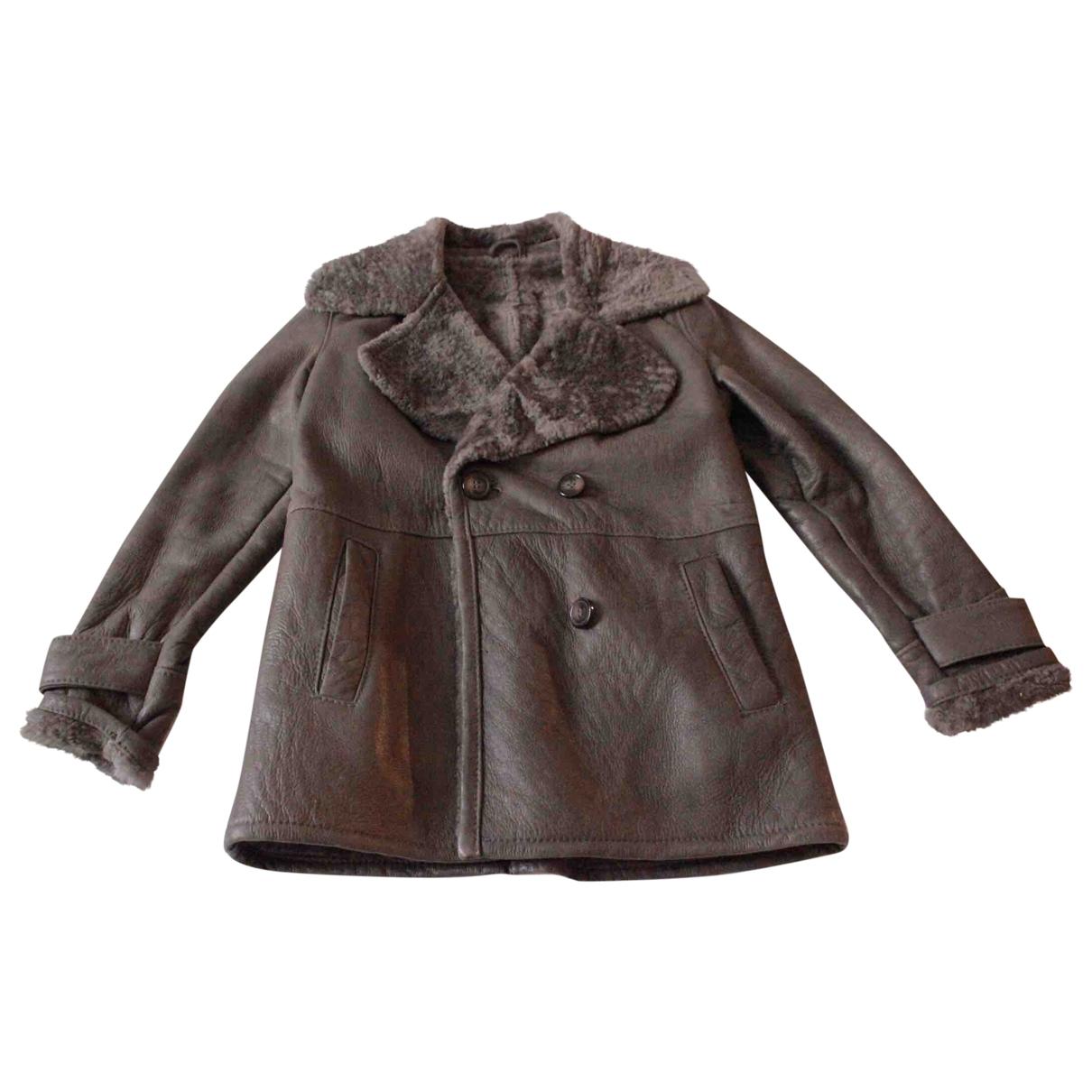 Gerard Darel \N Grey Leather jacket for Women 36 FR