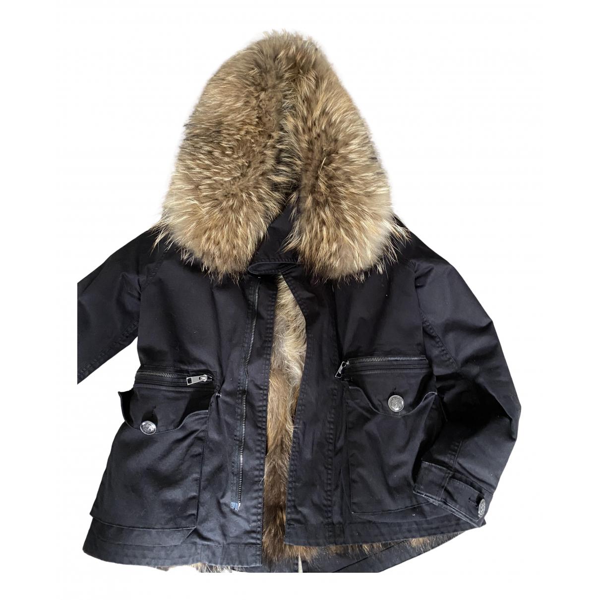 Liu.jo - Manteau   pour femme en racoon - noir
