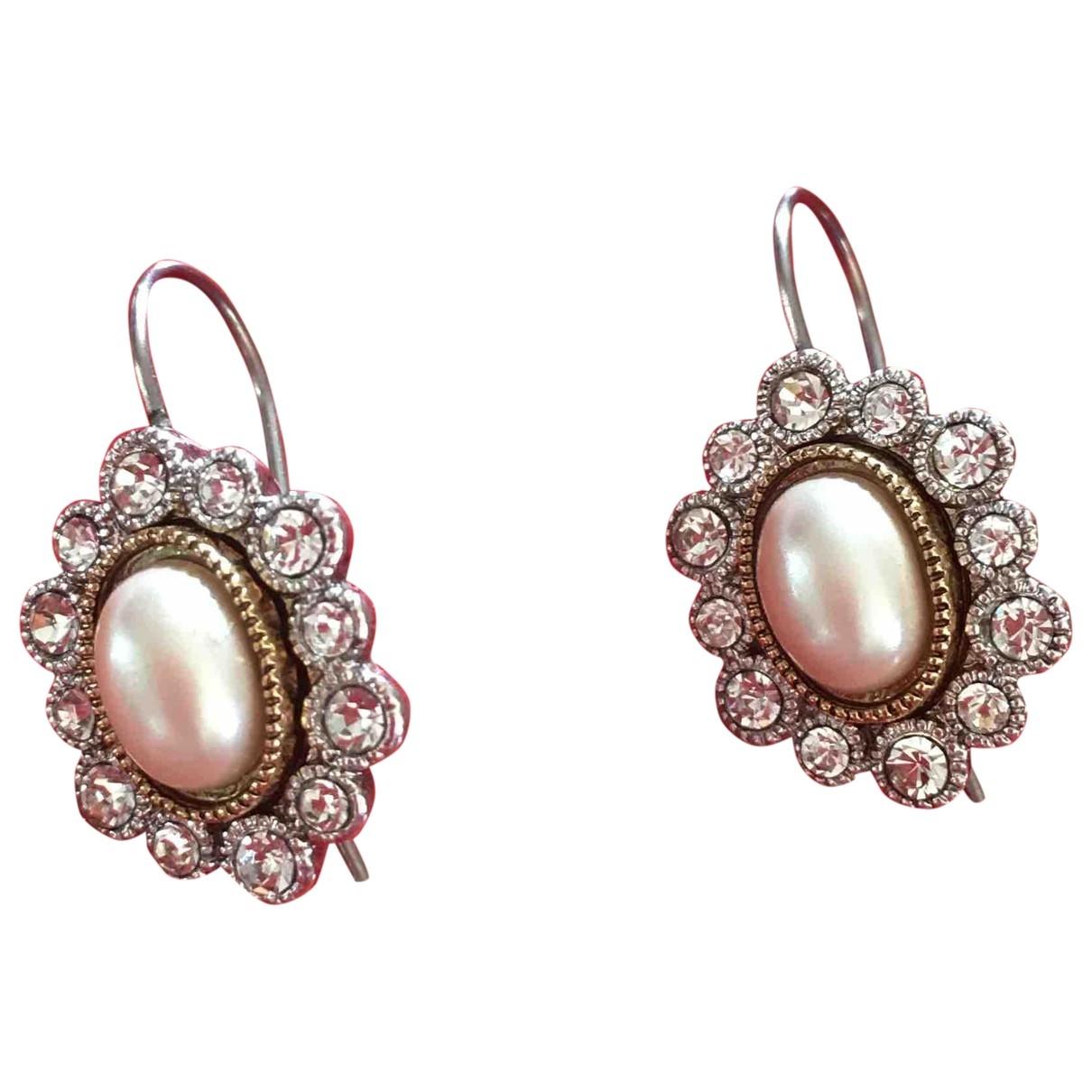 - Boucles d'oreilles Nacre pour femme en metal - blanc