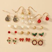 12pairs Christmas Stud Earrings