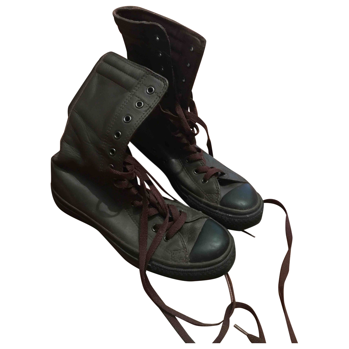 Converse \N Brown Leather Ankle boots for Women 37.5 EU