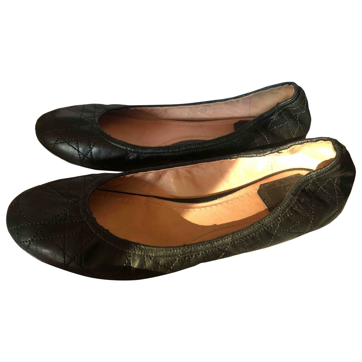 Dior \N Black Leather Ballet flats for Women 38 EU