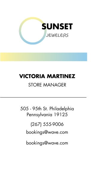 Retail & Food Business Cards, Set of 40, Silk Rounded, Card & Stationery -Jewels Sunset Gradient