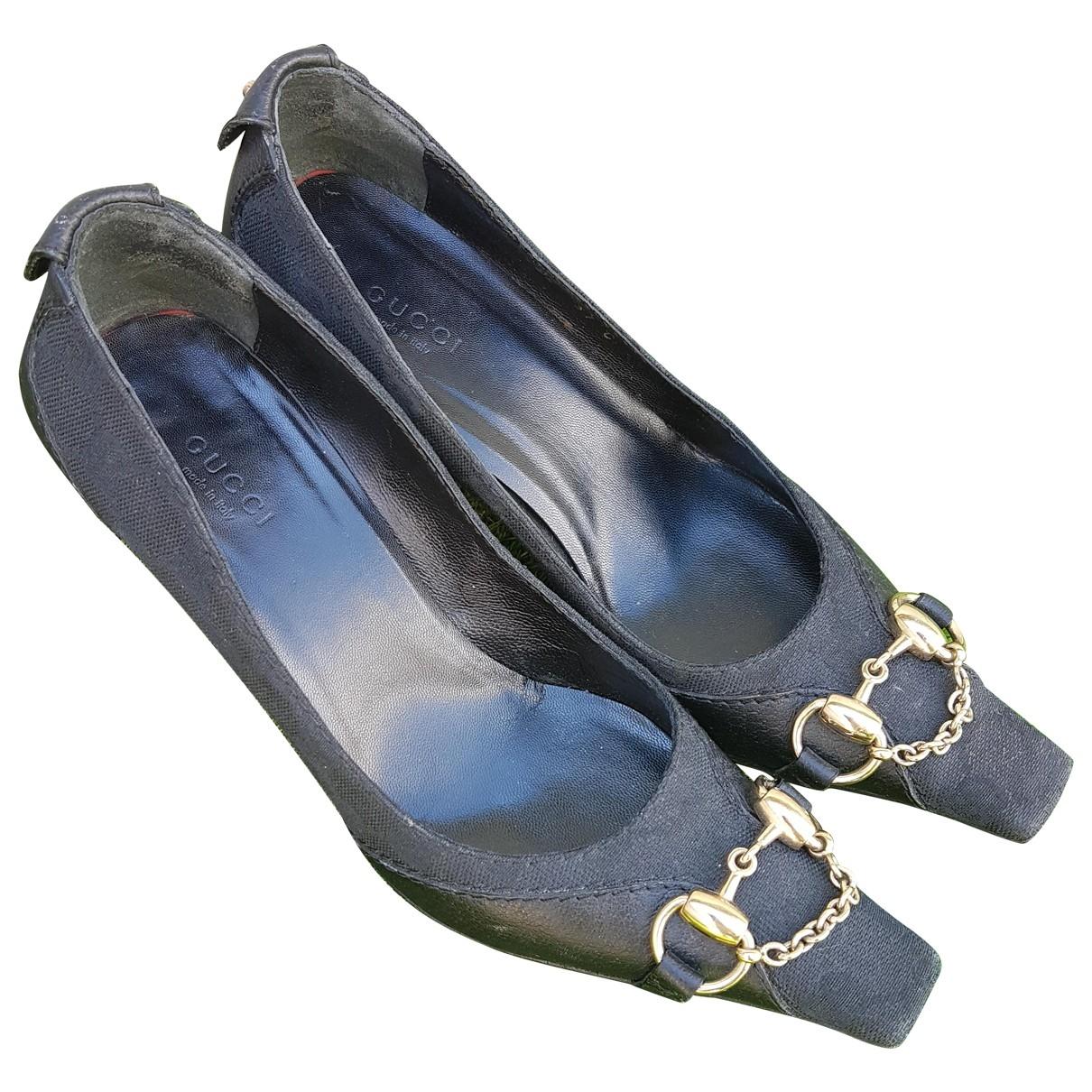 Gucci Arielle Black Cloth Heels for Women 38 EU
