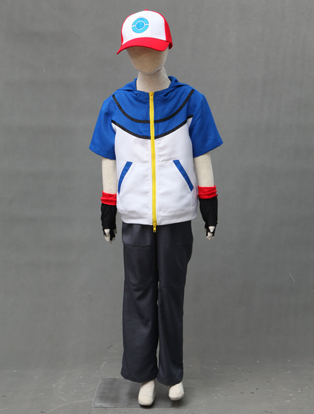 Milanoo Pocket Monster Pokemon Go Ash Ketchum Cosplay Costume For Kid Halloween