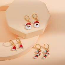 3 Paare Maedchen Weihnachten Ohrringe mit Klingel Anhaenger