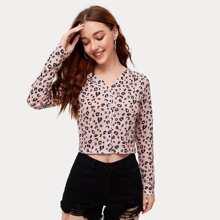 Leopard Button Front Cardigan
