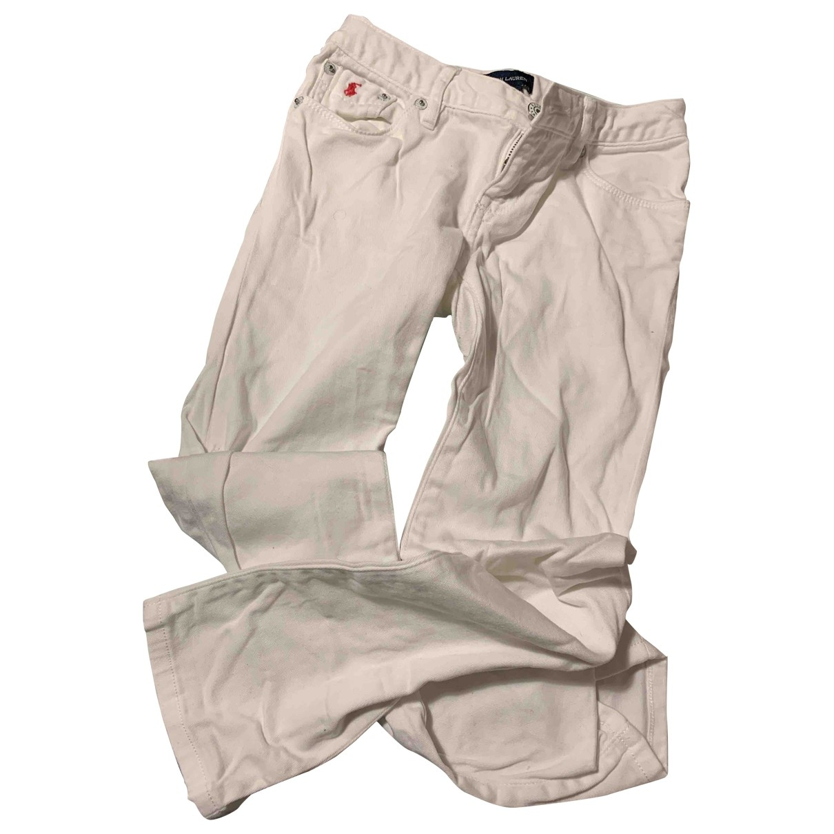 Polo Ralph Lauren \N White Cotton Trousers for Kids 6 years - up to 114cm FR