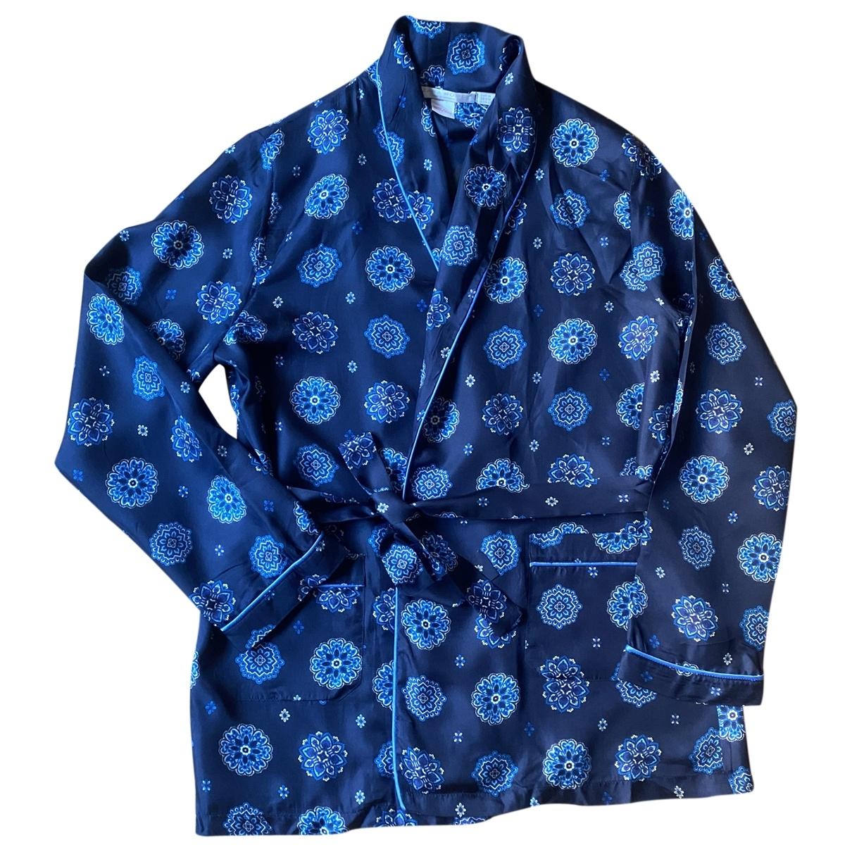 Zara - Veste   pour femme en soie - bleu