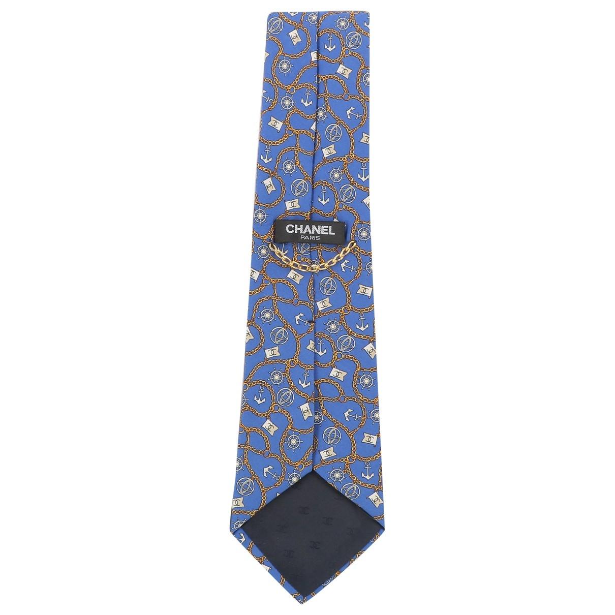 Chanel \N Blue Silk Ties for Men \N