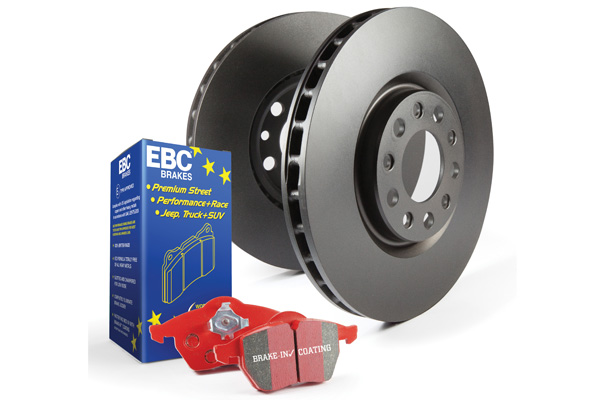 EBC Brakes S12KR1389 S12KR Kit Number REAR Disc Brake Pad and Rotor Kit DP32082C+RK1846 Audi Rear 3.0L V6