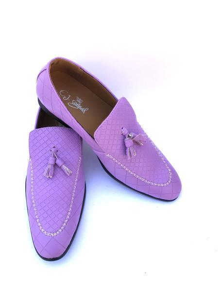 Men's Slip-On Style Gator Fashionable Light Purple