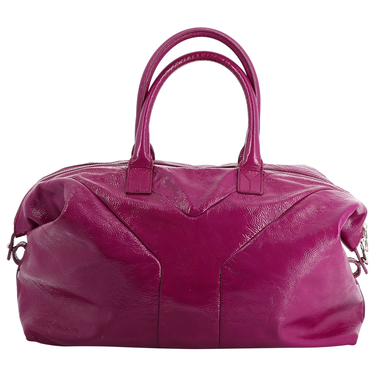 Yves Saint Laurent Easy Pink Patent leather handbag for Women \N
