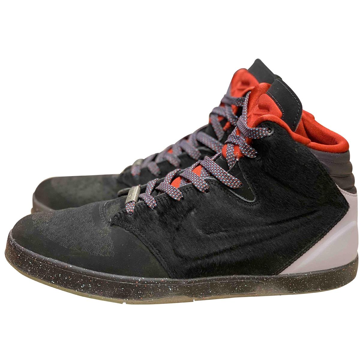 Nike - Baskets   pour homme en cuir - noir