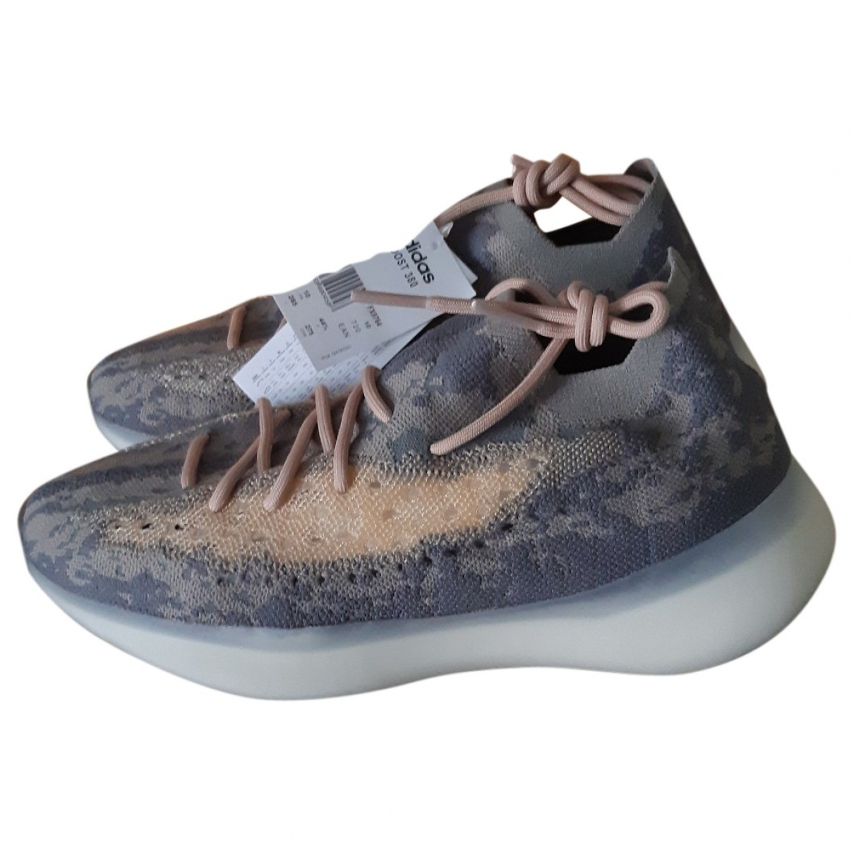 Yeezy X Adidas - Baskets Boost 380 pour homme en toile - gris
