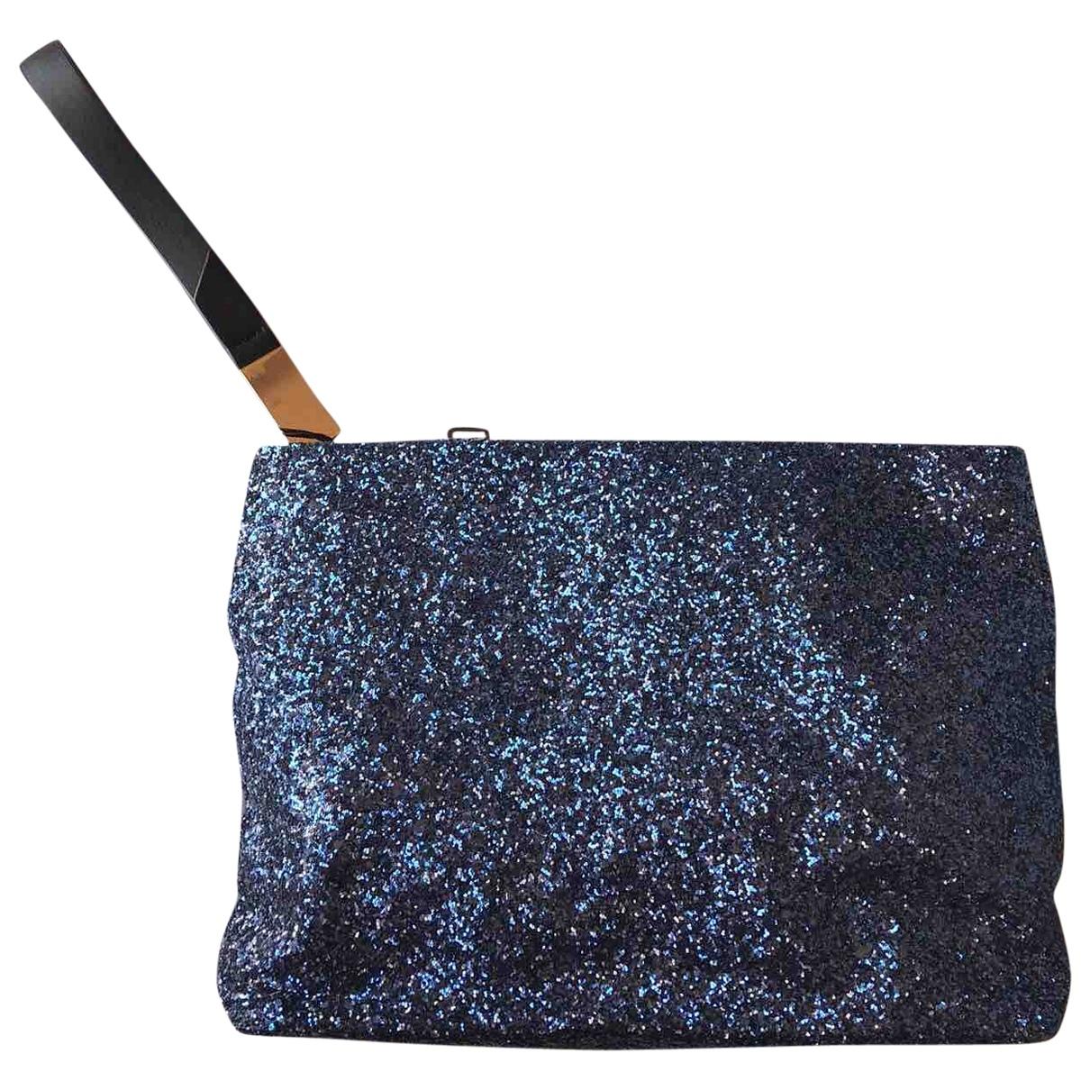 Zara \N Clutch in  Blau Mit Pailletten