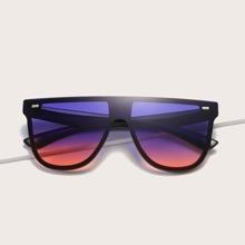 Rivet Decor Flat Top Sunglasses