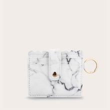 Scallop Trim Marble Pattern Purse