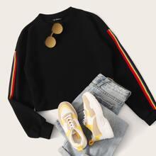 Pullover mit Regenbogen Streifen und seitlichem Band
