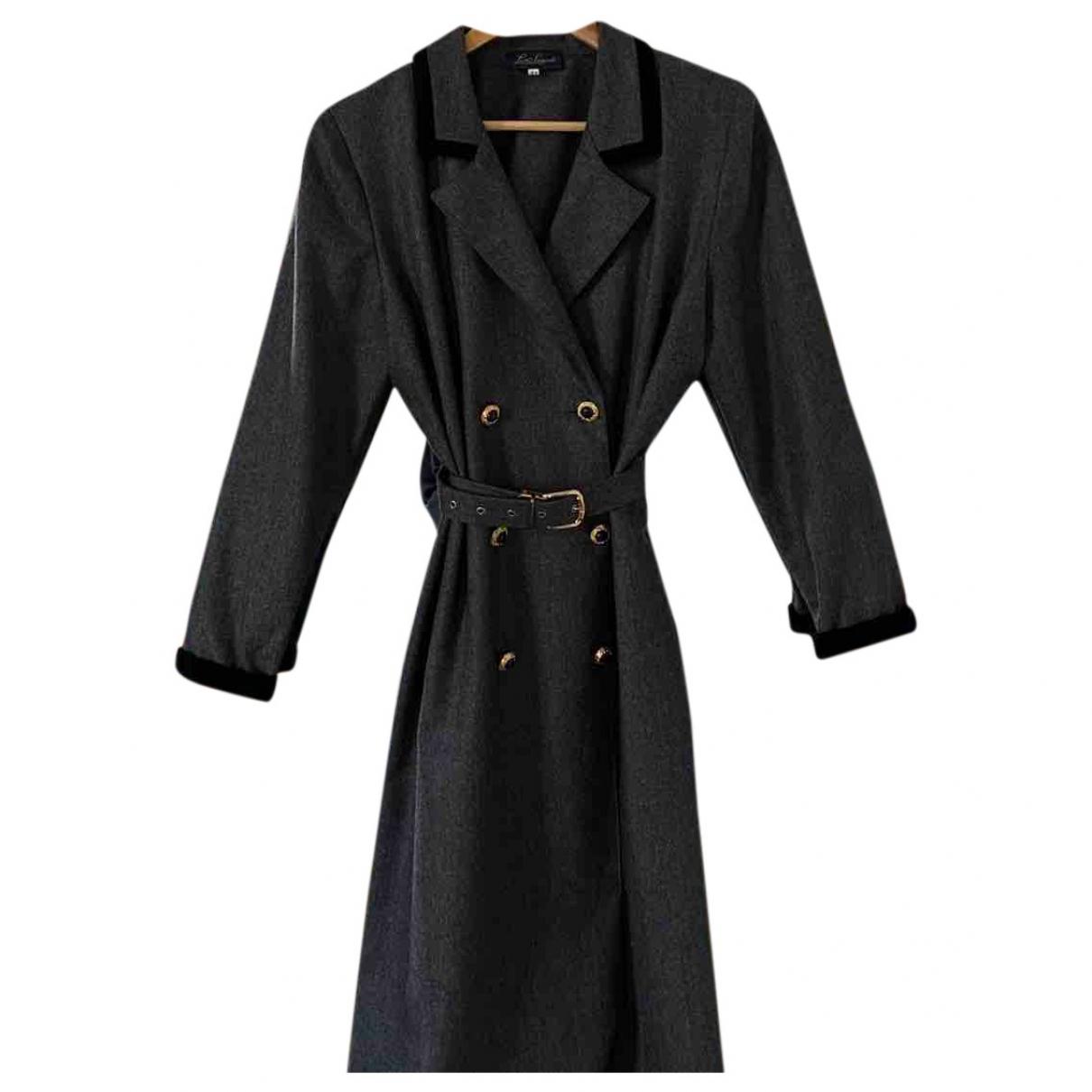 - Robe   pour femme en laine - gris