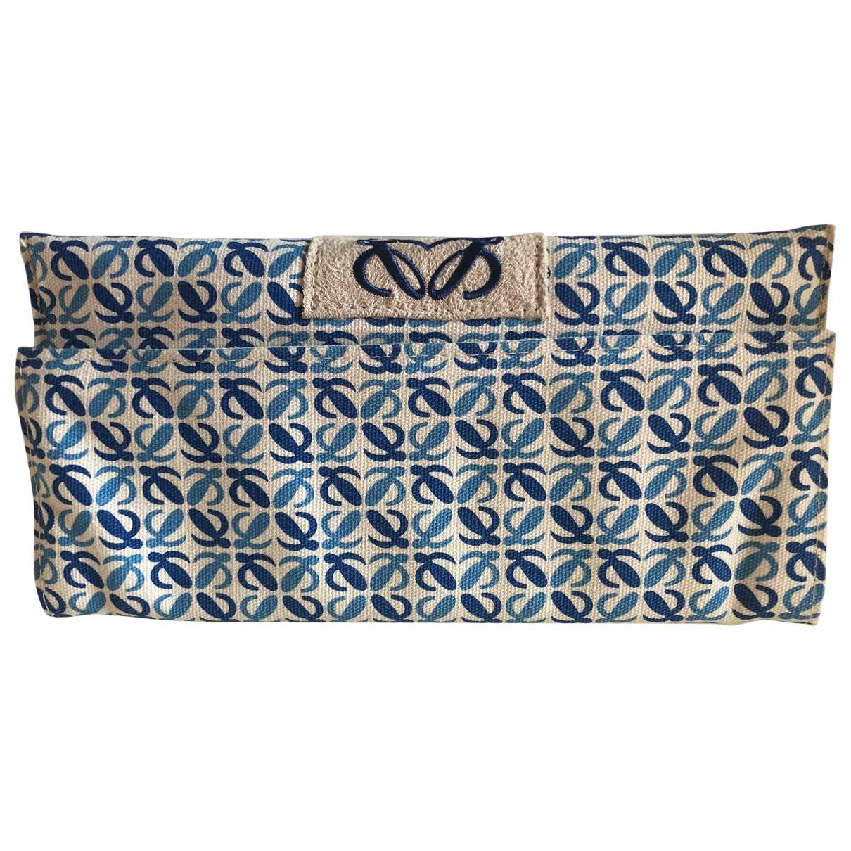 Loewe \N Reisetasche in  Blau Leinen