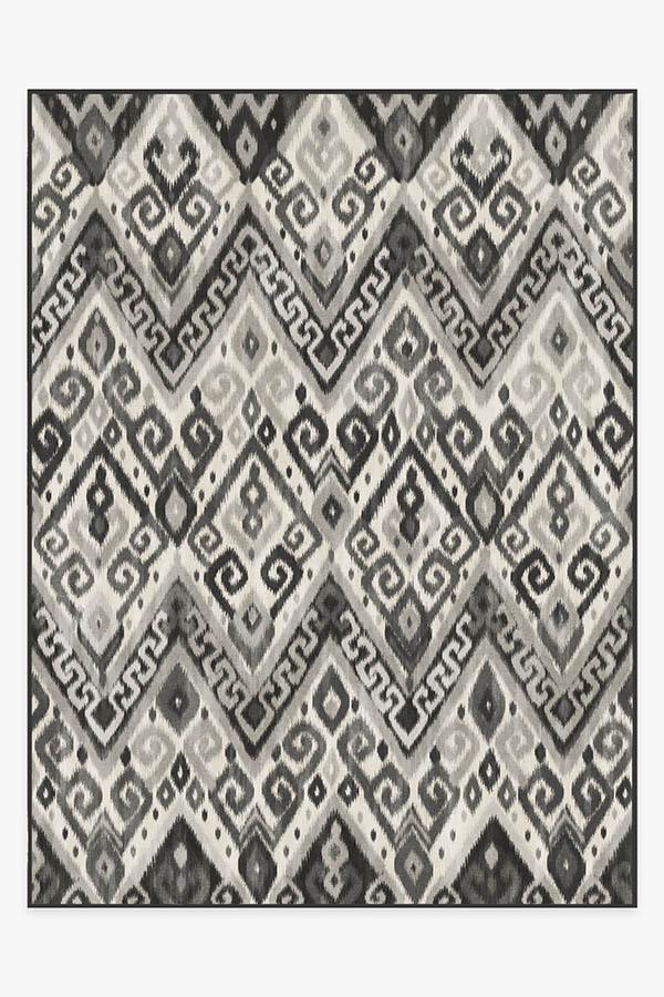 Washable Rug Cover & Pad | Orissa Grey Rug | Stain-Resistant | Ruggable | 9'x12'