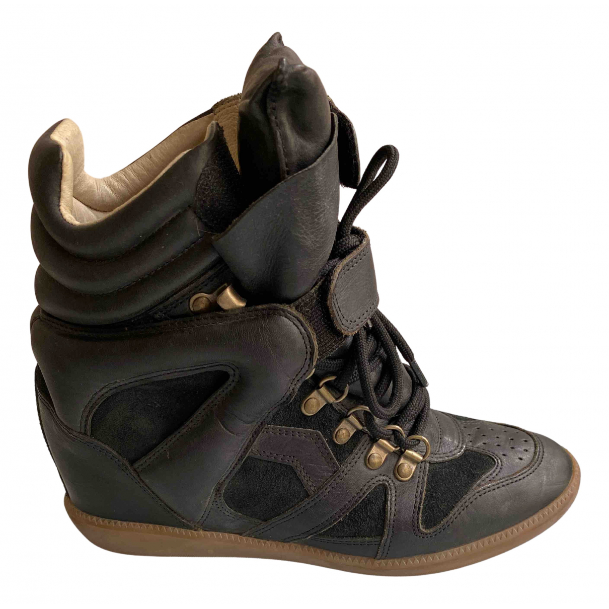 Isabel Marant \N Black Leather Trainers for Women 40 EU
