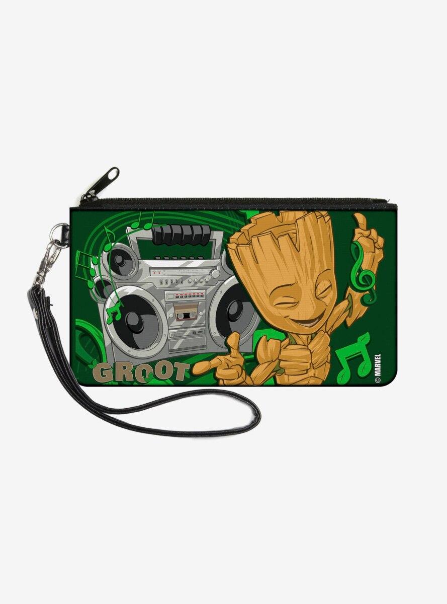 Marvel Groot Boombox Groove Wallet Canvas Zip Clutch