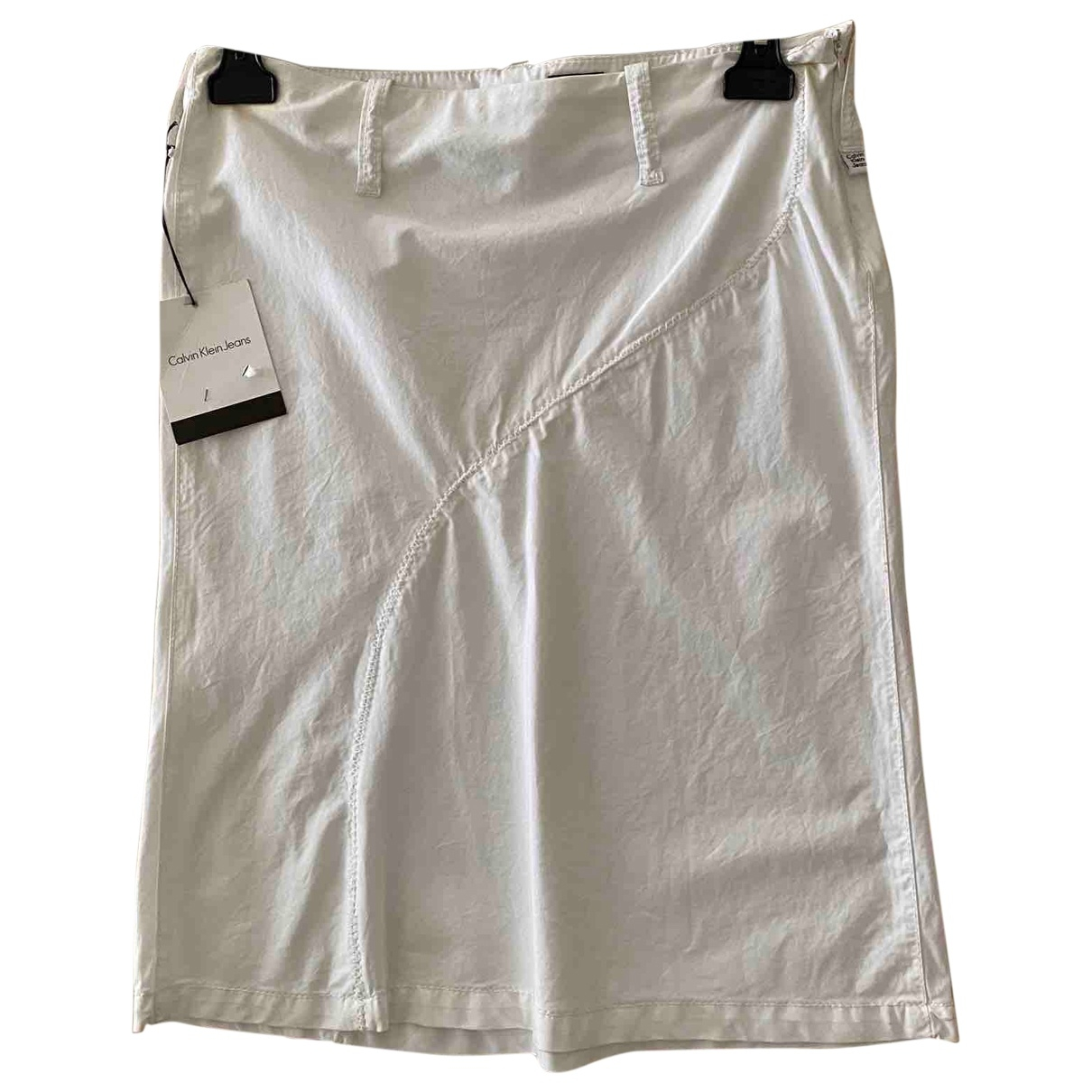 Calvin Klein - Jupe   pour femme en coton - blanc