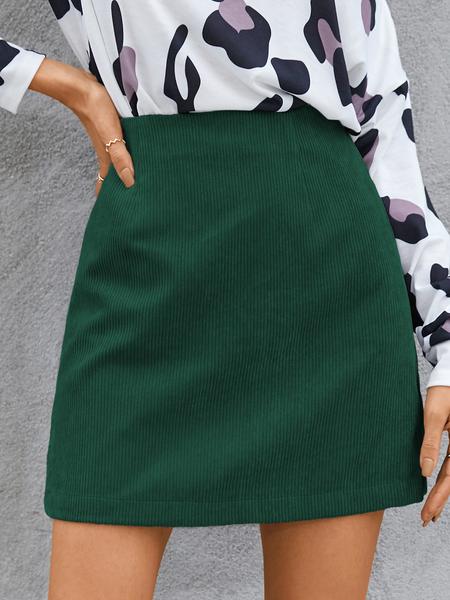 YOINS Corduroy High Waisted Mini Skirt