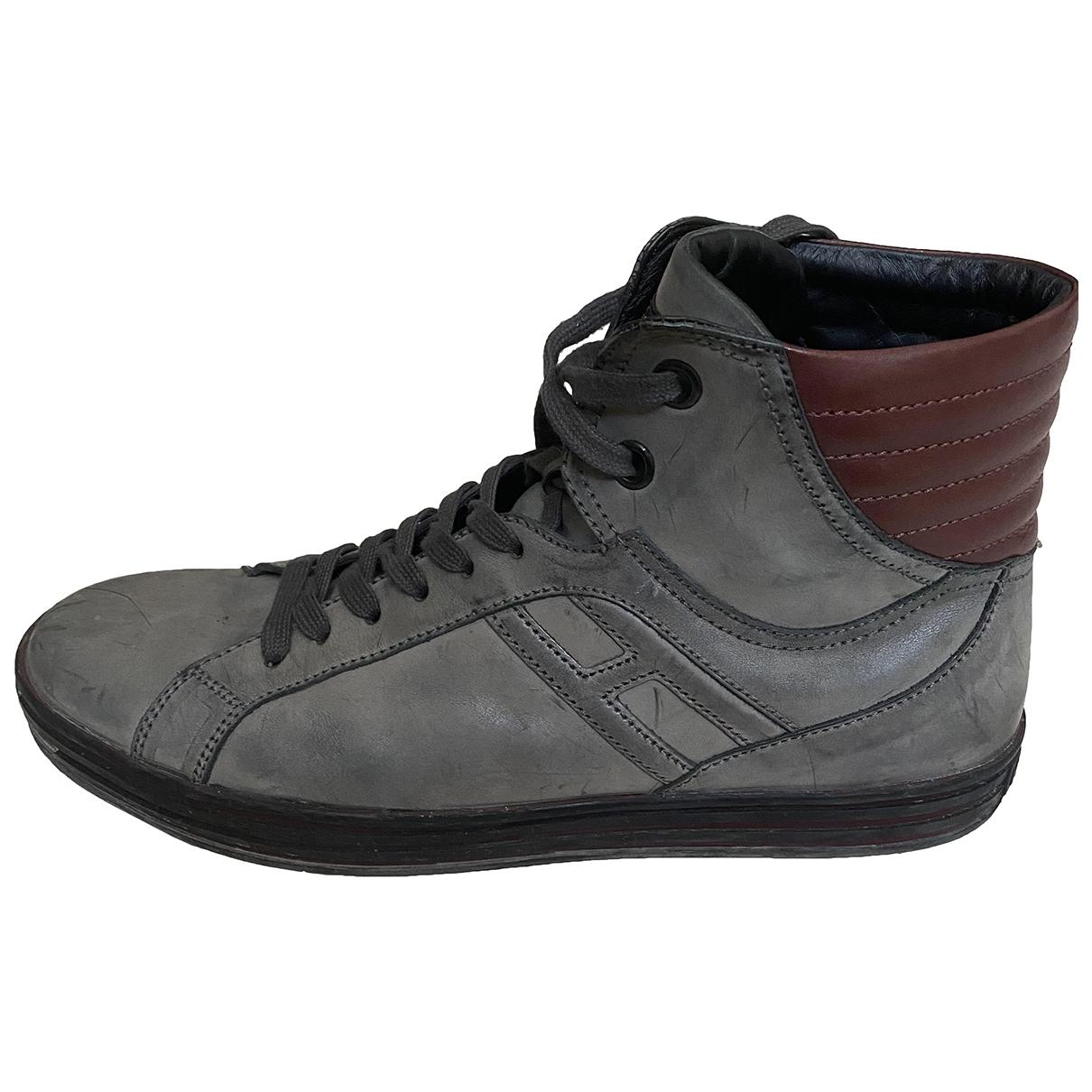 Hogan \N Sneakers in  Grau Leder