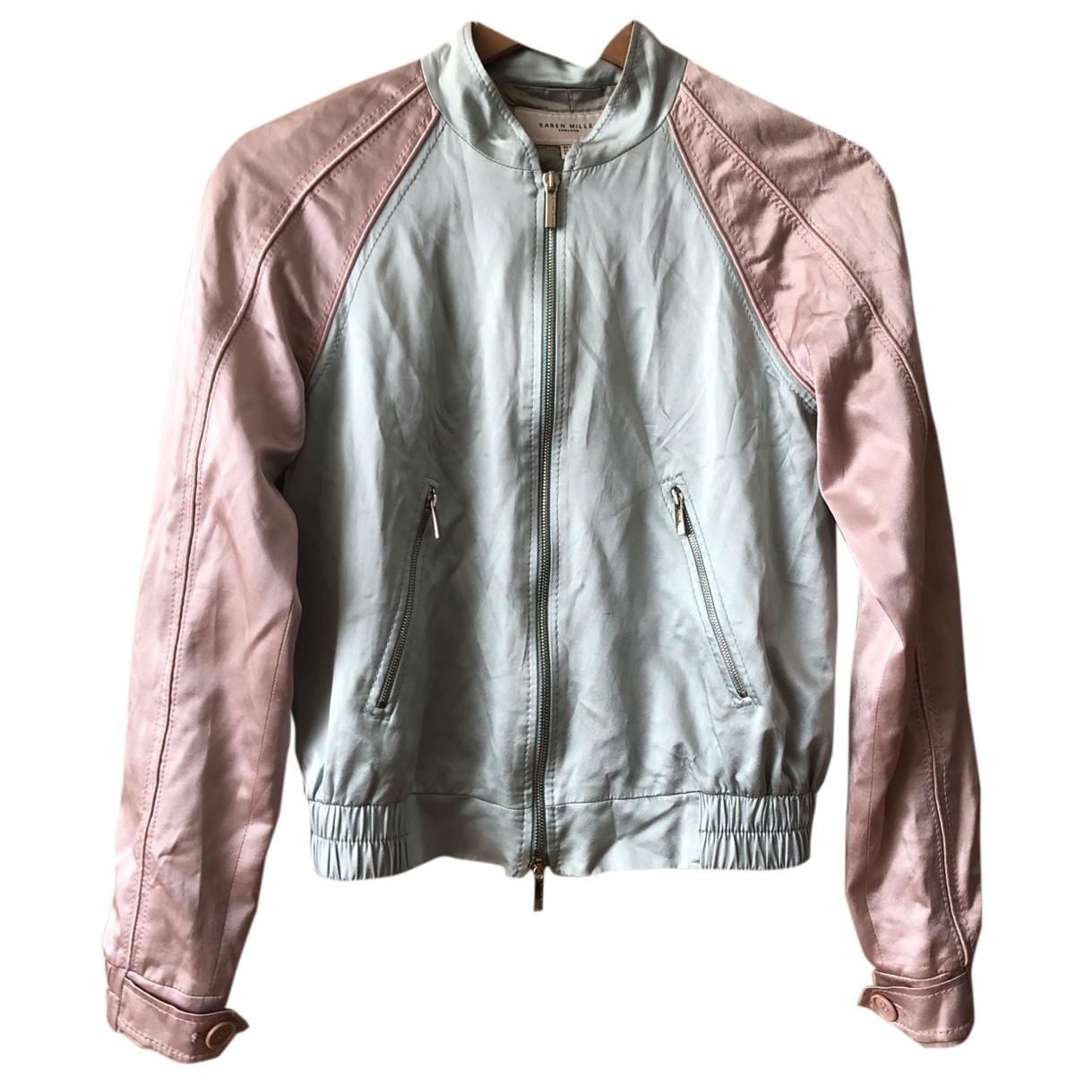 Karen Millen \N Blue Silk jacket for Women 8 UK