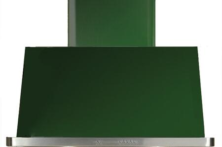 UAM90/EG 36 Majestic Emerald Green Wall Mount Range Hood with 850 CFM Blower  Anti-grease Filter  2 Warming Lights  Filter Light Indicator  Auto-off