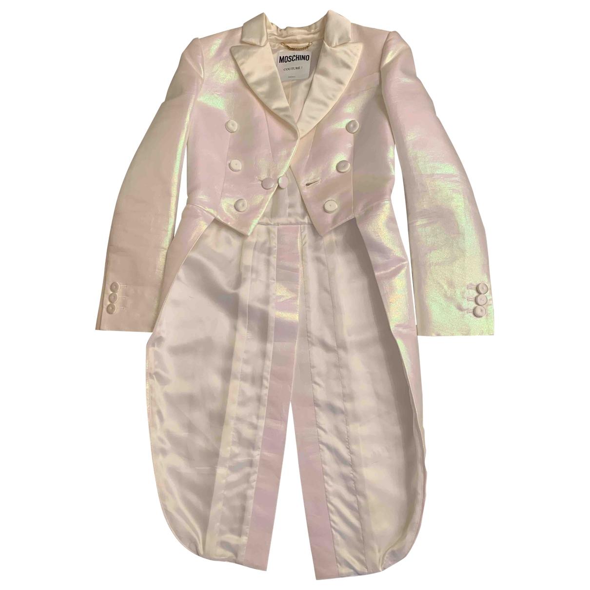 Moschino - Veste   pour femme en coton - blanc