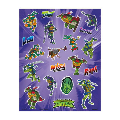 Rise of the TMNT Stickers, 4 Sheets For Birthday Party