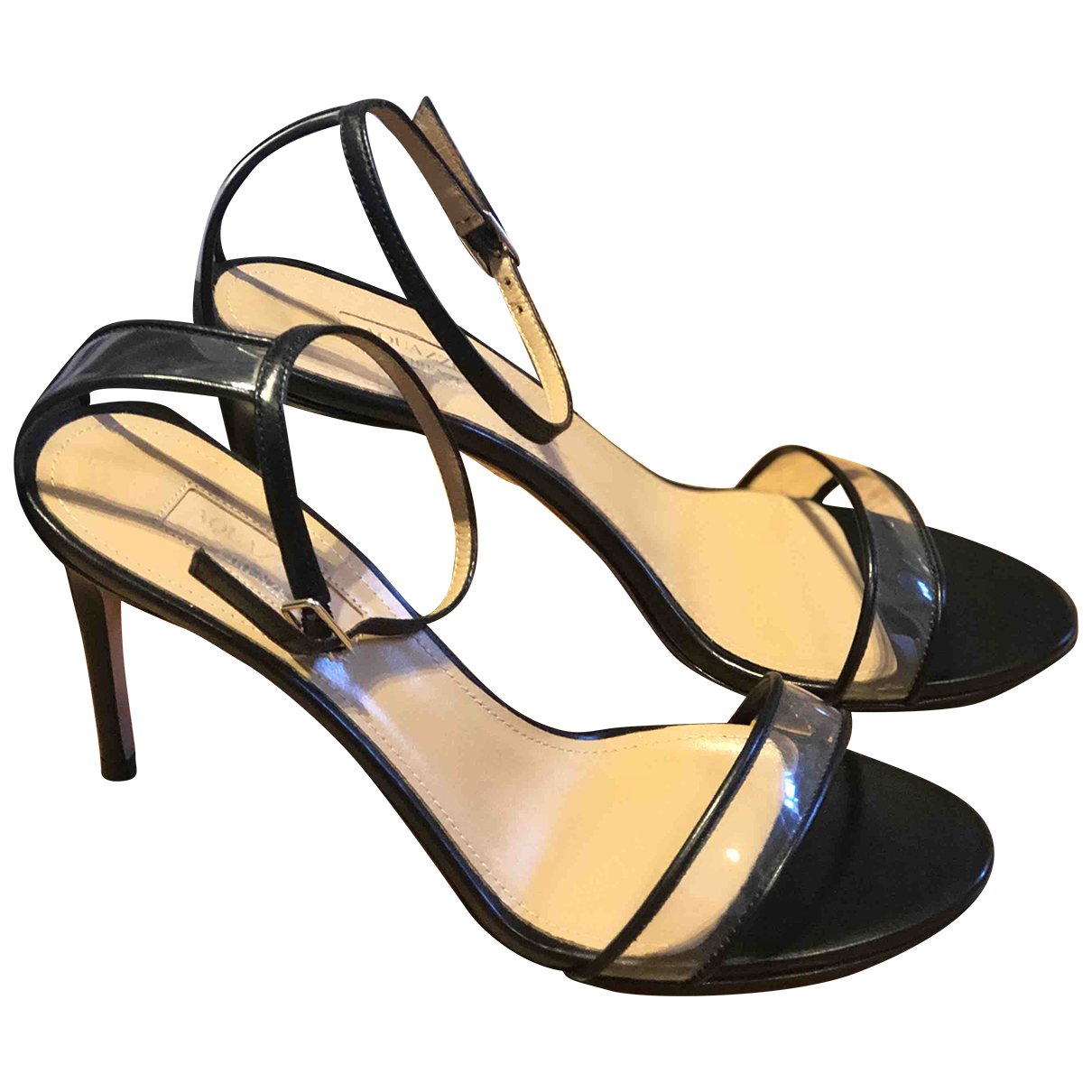 Aquazzura \N Black Leather Sandals for Women 37 EU