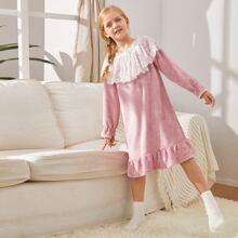Schleifen  Colorblocks Suess Maedchen Loungewear