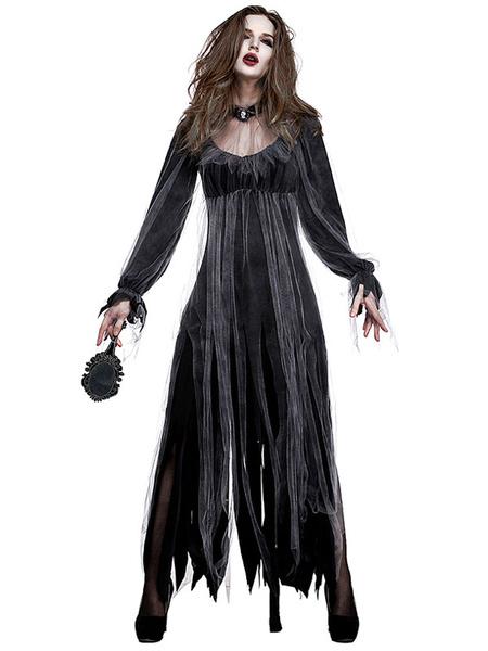Milanoo Disfraz Halloween Disfraz de Halloween para hombre Disfraces de mujer zombi Carnaval Halloween