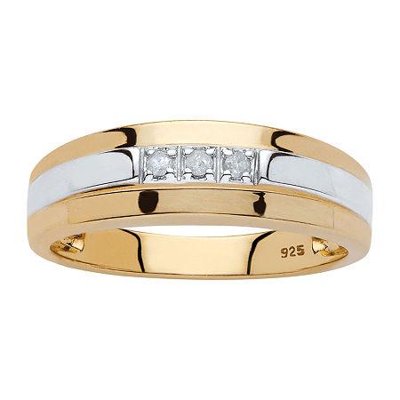 2.5MM Diamond Accent Genuine White Diamond 18K Gold Over Silver Band, 10 , No Color Family