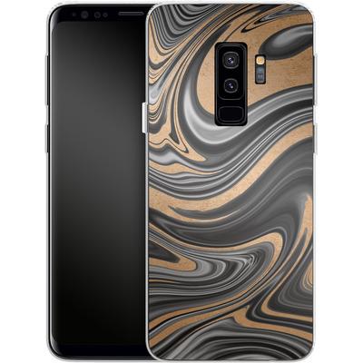 Samsung Galaxy S9 Plus Silikon Handyhuelle - Gold Swirl von #basic