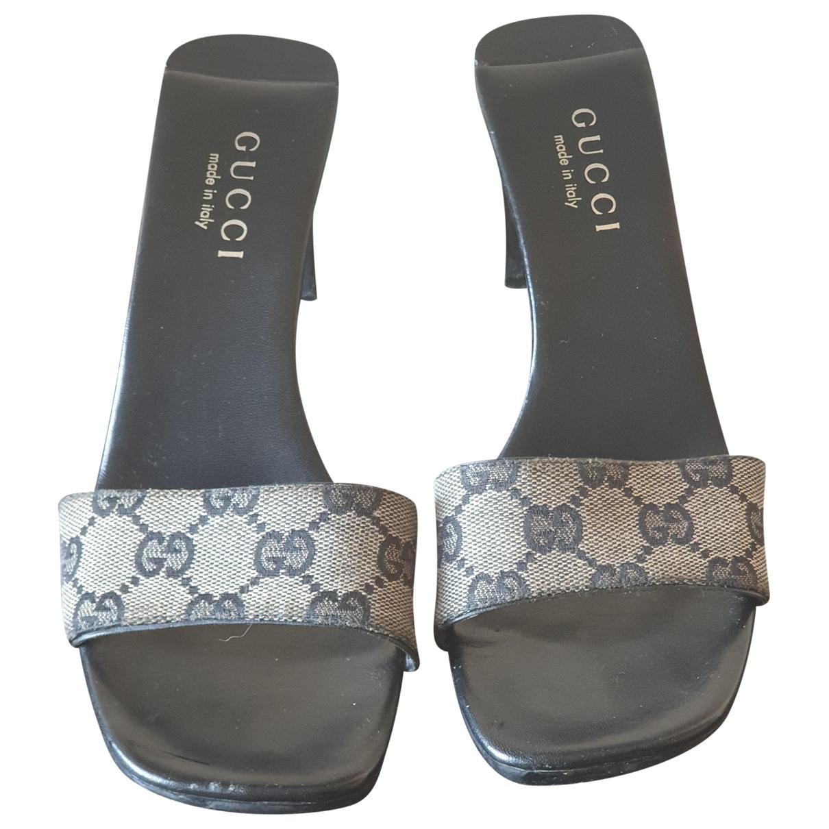 Zuecos Double G de Lona Gucci