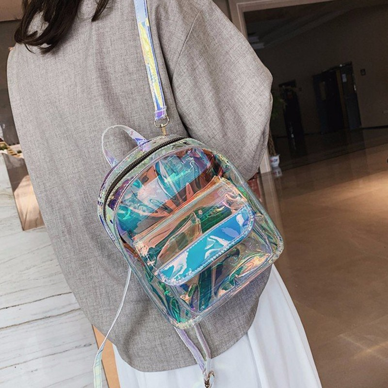 Ericdress Clear ABS Plastic Plain Backpacks