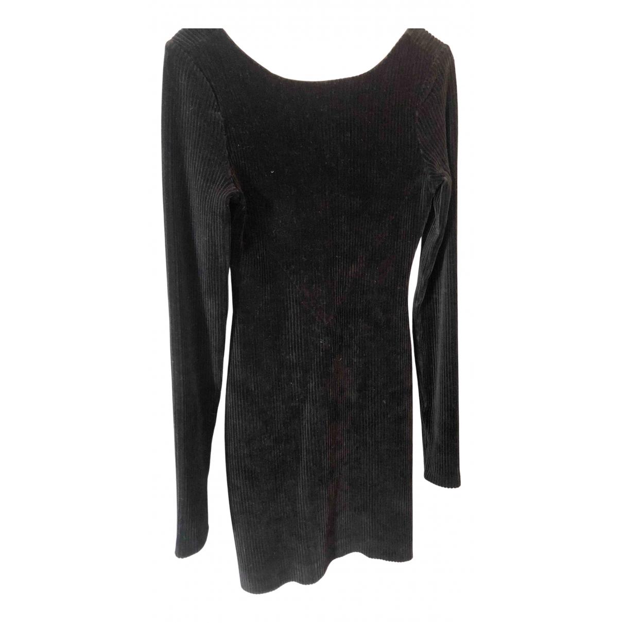 Maje \N Kleid in  Schwarz Samt