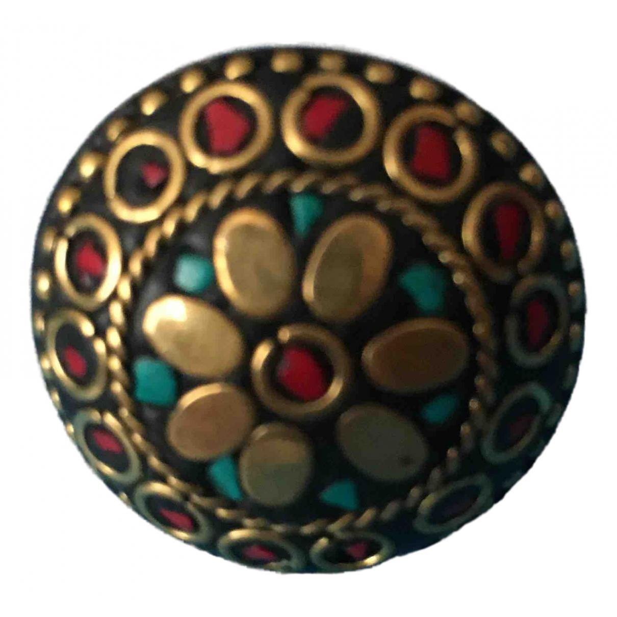 - Bague Motifs Ethniques pour femme en metal - multicolore