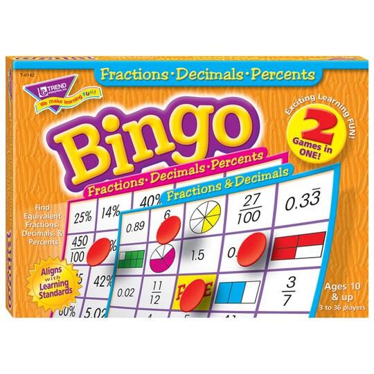 Trend Enterprises Fractions, Decimals, And Percents Bingo Game | Michaels®