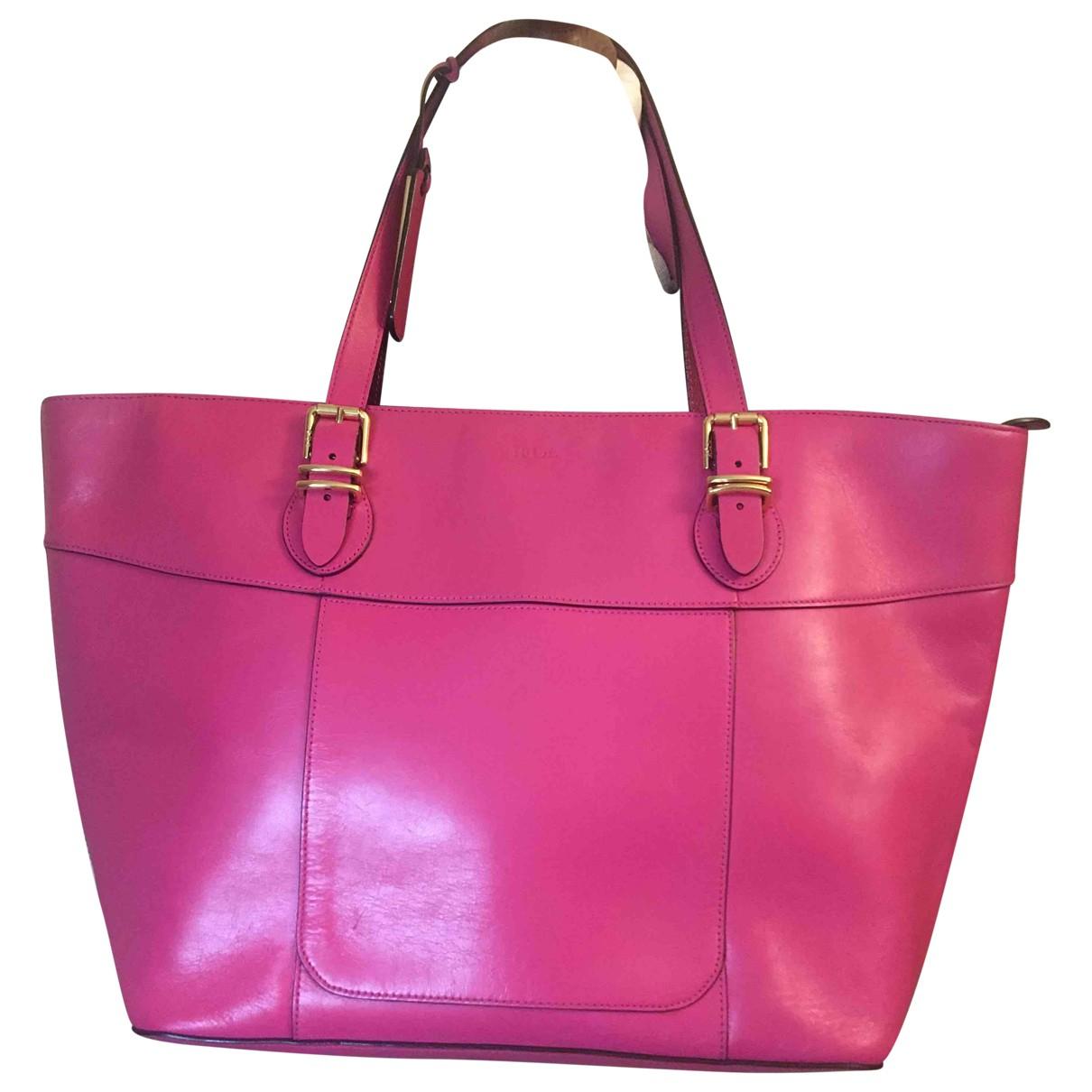 Ralph Lauren - Sac a main   pour femme en cuir - rose