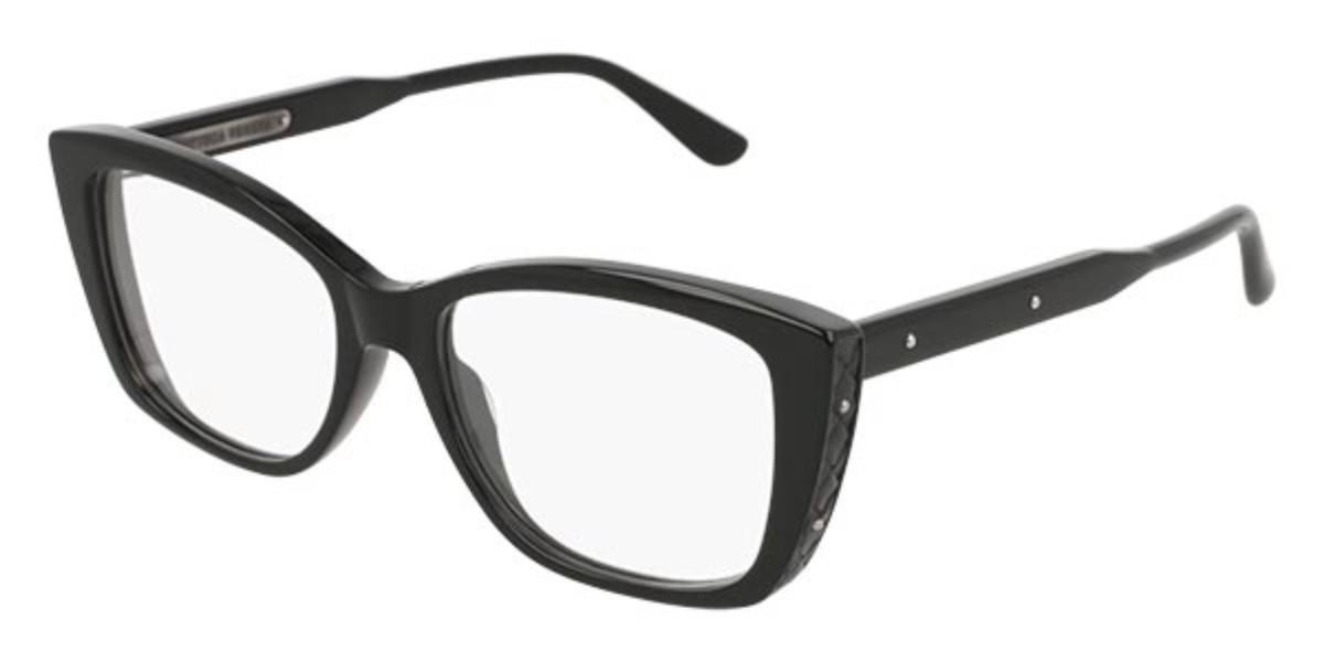 Bottega Veneta BV0183O 001 Women's Glasses Black Size 52 - Free Lenses - HSA/FSA Insurance - Blue Light Block Available