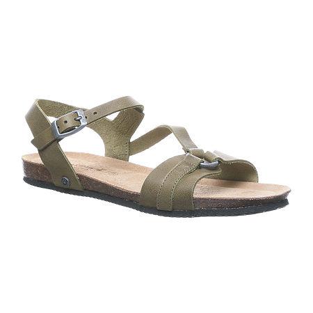 Bearpaw Womens Sandy Flat Sandals, 10 Medium, Black