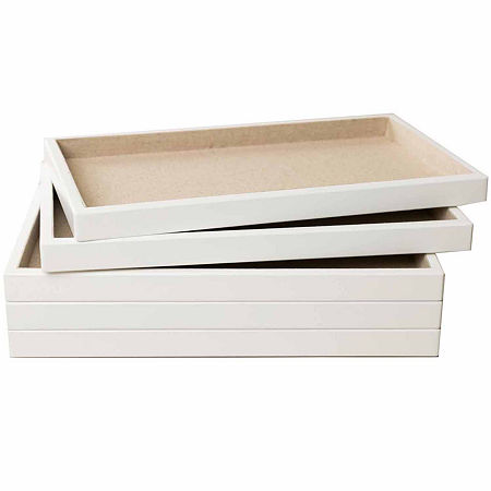 Hives & Honey White 5-Piece Stackable Trays, One Size , No Color Family